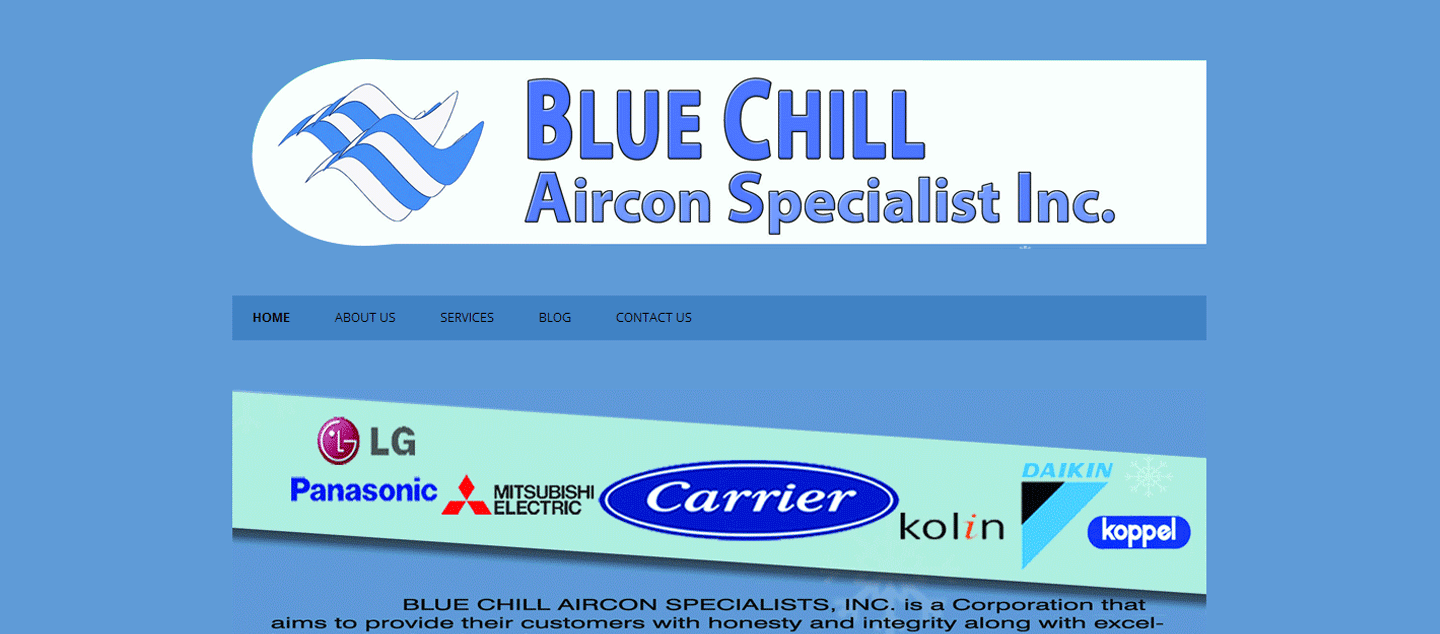 Air Condition Service Website : Bluechillaircon.com