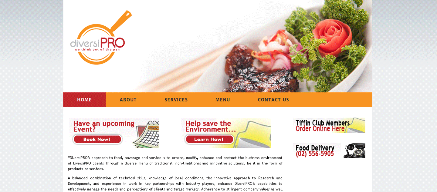 Food Services Website : Diversiproph.com