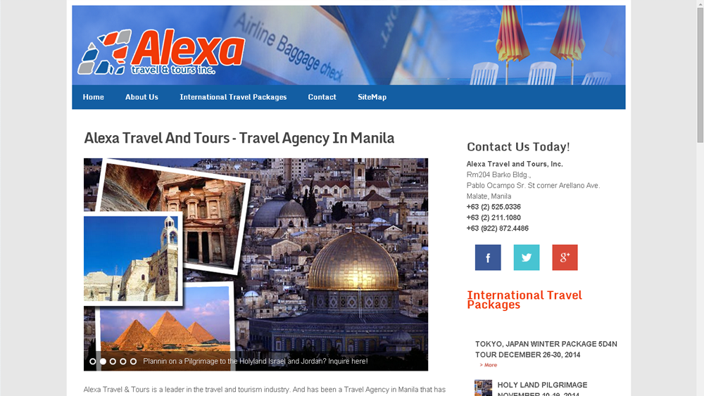 Travel And Tour Website : Alexa Travel And Tours