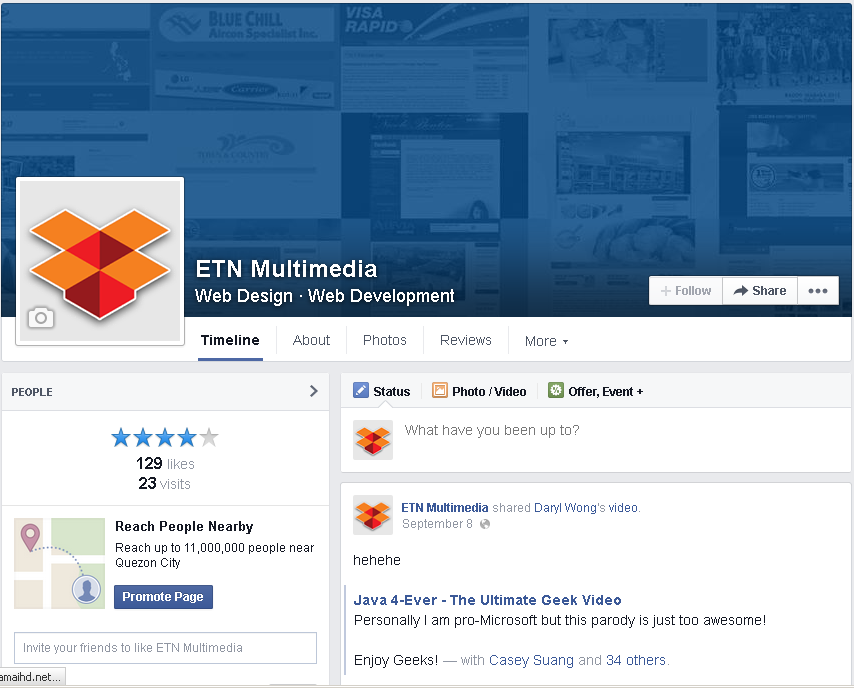 ETN Multimedia Facebook Page