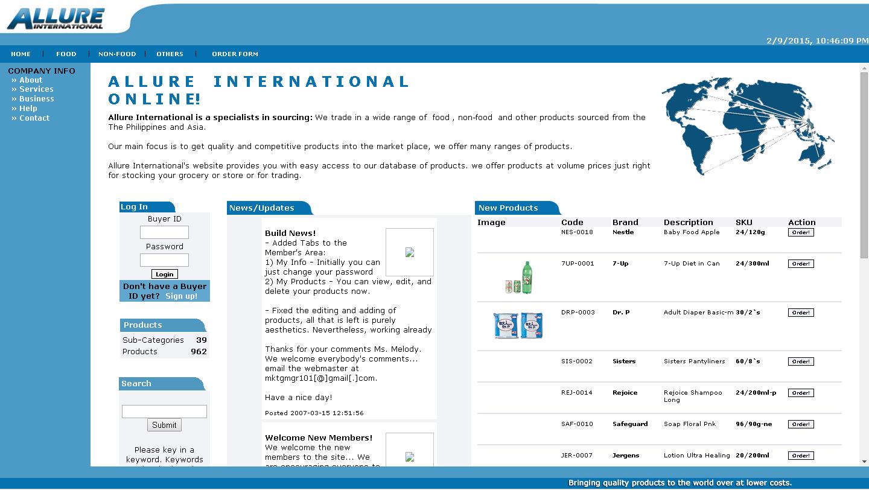 Online Catalog : Allureinternational.biz