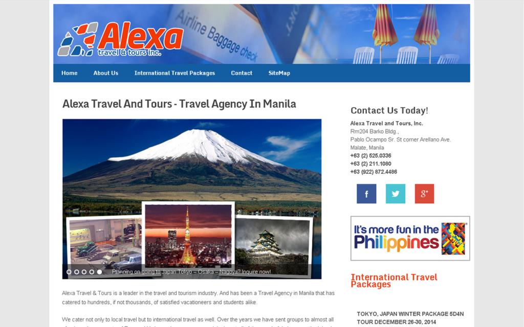 Case Study : Alexa Travel And Tours